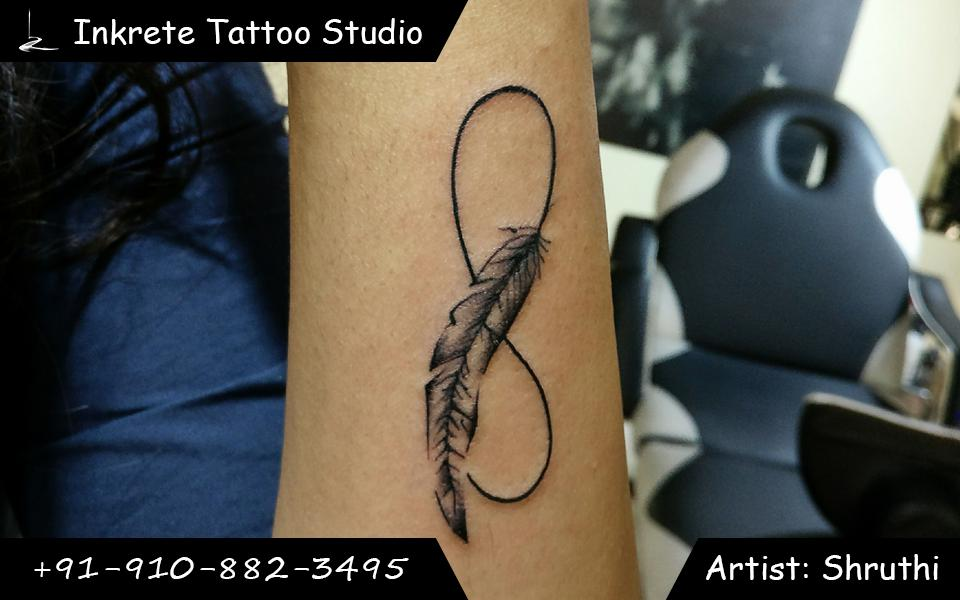 feather tattoo, infinity tattoo, small tattoo ideas